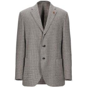 《期間限定セール開催中!》LARDINI メンズ テーラードジャケット ベージュ 56 ウール 100%