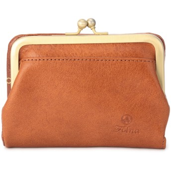 Folna [フォルナ]Folnaヌメオイルシュリンクがま口二つ折り財布 財布,キャメル