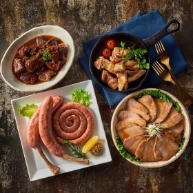 三國推奨 ミートデリカごちそうギフト MMD-G 牛肉ほろほろ煮、焼豚、豚角煮、うずまきウインナー×各1袋