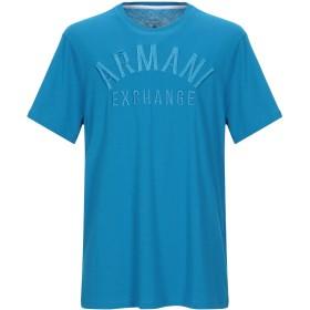 《期間限定セール開催中!》ARMANI EXCHANGE メンズ T シャツ アジュールブルー XS コットン 100%