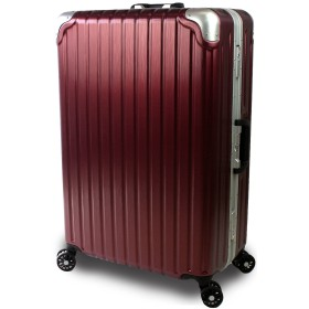 【SUCCESS サクセス】 スーツケース 2サイズ( 大型 ・ 中型 ) TSAロック 搭載 超軽量フレーム ジェノバPC2020~ キャリーバッグ (Lサイズ 大型 76cm, ワインヘアライン)