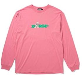 XLARGE (エクストララージ)L/S GREY STANDARD LOGO TEE ピンク XL