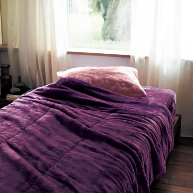 毛布 シングル 140×200 洗える 暖かい おしゃれ 安い シンプル 中綿入り 厚手 冬 秋 マイクロファイバー ふわふわ ふかふか なめらか もこもこ 寒がり メルトロ