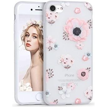 iPhone 8 ケース iPhone 7 ケース 耐衝撃 かわいい シリコン 花柄 超薄 人気 アイフォン8/7ケース