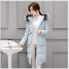 防寒 秋冬 アウター フード付き ダウンコート ダウンジャケット 中綿ジャケット暖かい 大人 通勤 防風 レディース ファー付き 厚手