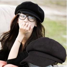 送料無料★キャスケット マリンキャップ レザー 韓国ファッション マリン帽 レディース ブラック 黒ワイン グリーン カーキ ベージュ グレー 帽子 コーデュロイ ベレー帽 チェック