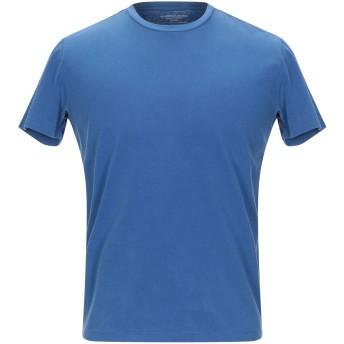 《9/20まで! 限定セール開催中》MAJESTIC FILATURES メンズ T シャツ ブルー M コットン 94% / ポリウレタン 6%