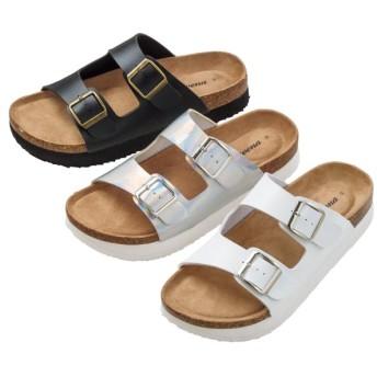 【格安-女性靴】レディースクッションインソール厚底サンダル