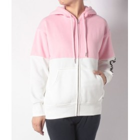 (LEVI'S OUTLET/リーバイス アウトレット)COLOUR BLOCK ZIP HOODIE LIGHT PINK TOP B/レディース マルチ