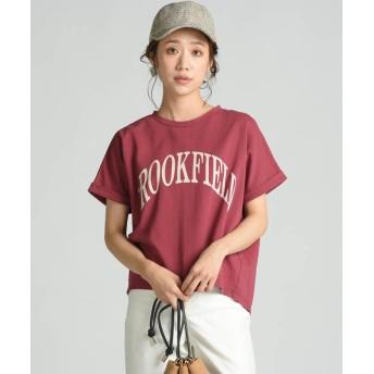 メイソングレイ カレッジロゴプリントTシャツ レディース ボルドー M 【MAYSON GREY】