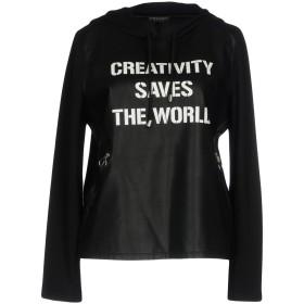 《期間限定セール開催中!》TWINSET レディース スウェットシャツ ブラック XS レーヨン 100% / ナイロン / ポリウレタン
