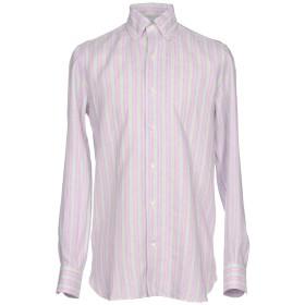 《期間限定セール開催中!》GIAMPAOLO メンズ シャツ ライトパープル 41 麻 100%