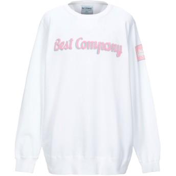 《セール開催中》BEST COMPANY メンズ スウェットシャツ ホワイト S コットン 100%