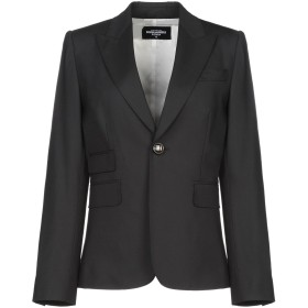 《期間限定 セール開催中》DSQUARED2 レディース テーラードジャケット ブラック 42 バージンウール 95% / ポリウレタン 5%
