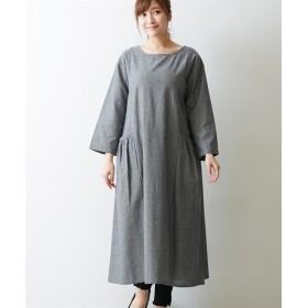 シャンブレーギャザーポケットワンピース (ワンピース)Dress, 衣裙, 連衣裙