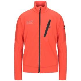 《期間限定セール開催中!》EA7 メンズ スウェットシャツ オレンジ XXS ポリエステル 96% / ポリウレタン 4%