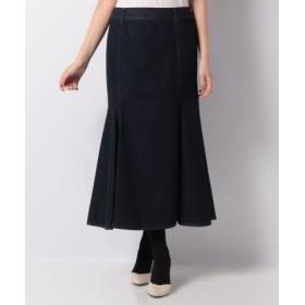 (LAPINE BLEUE/ラピーヌ ブルー)【洗える】ワンウォッシュデニム マーメイドスカート/レディース ネイビー