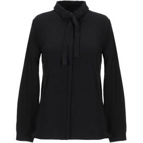 《期間限定セール開催中!》STEFANEL レディース シャツ ブラック XS コットン 97% / ポリウレタン 3%