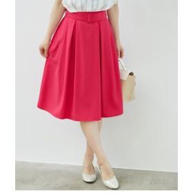 【SALE開催中】【ROPE' PICNIC:スカート】ベルト付きタックスカート