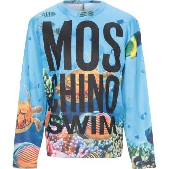 《9/20まで! 限定セール開催中》MOSCHINO メンズ スウェットシャツ アジュールブルー XS ポリエステル 70% / コットン 30%