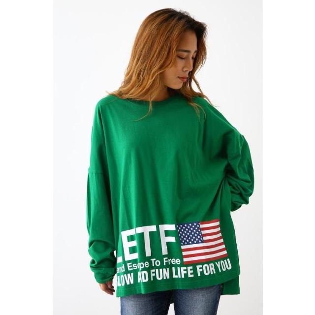 【28%OFF】 ロデオクラウンズワイドボウル LETF ロングスリーブ Tシャツ レディース GRN FREE 【RODEO CROWNS WIDE BOWL】 【セール開催中】