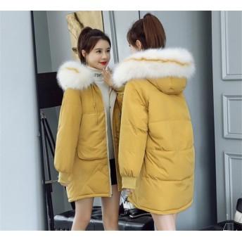大好評につSALE延長韓国ファッション 長袖 おしゃれな 新品 秋冬物 大きいサイズ レインボー 中・長セクション ダウンコート コート
