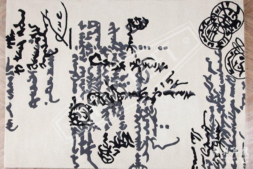【純真年代】復古風工業風 抽像文字符號掛毯(大/小) 紐西蘭羊毛毯 壁飾 沙發毯子 經典LOFT特色家飾裝飾品 咖啡廳酒吧民宿餐廳室內設計裝潢掛飾 ~AG-1008C~