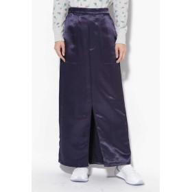 【ローズバッド/ROSEBUD】 サテンストレートスカート