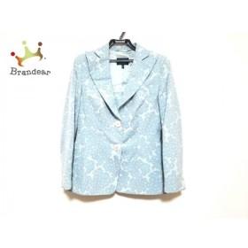 レナランゲ ジャケット サイズI44 L レディース 美品 ライトブルー×ブルー 肩パッド/花柄 新着 20190906
