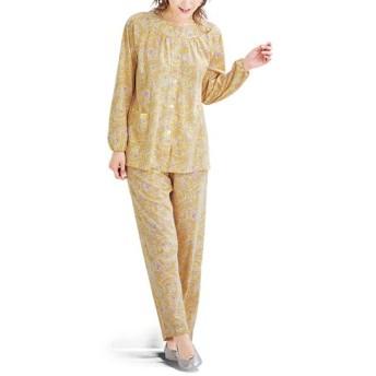 40%OFF【レディース】 前開きパジャマ(綿100%・日本製) - セシール ■カラー:クリーム ■サイズ:M