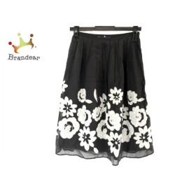 エムズグレイシー スカート サイズ38 M レディース 黒×ライトグレー 花柄/スパンコール   スペシャル特価 20191130
