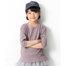 [マルイ] 子供服 キッズ ワッフル7分袖Tシャツ 男の子 女の子 トップス 長袖 長そで 韓国子供服/デビロック(devirock)