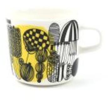 マリメッコ マグカップ コップ コーヒーカップ 200ml SIIRTOLAPUUTARHA COFFEE CUP marimekko 5263163293 F(フリー) ホワイト×イエロー×BLK(55)