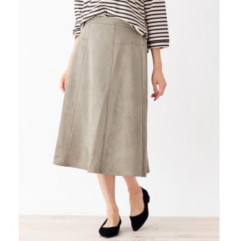 SHOO・LA・RUE / シューラルー やわらかスウェード調切替スカート