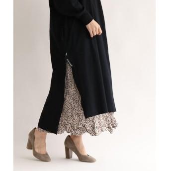 aquagirl / アクアガール レオパード変形プリーツロングスカート
