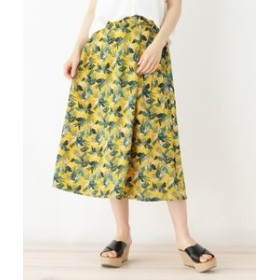 【HusHusH:スカート】◆ボタニカル柄スカート
