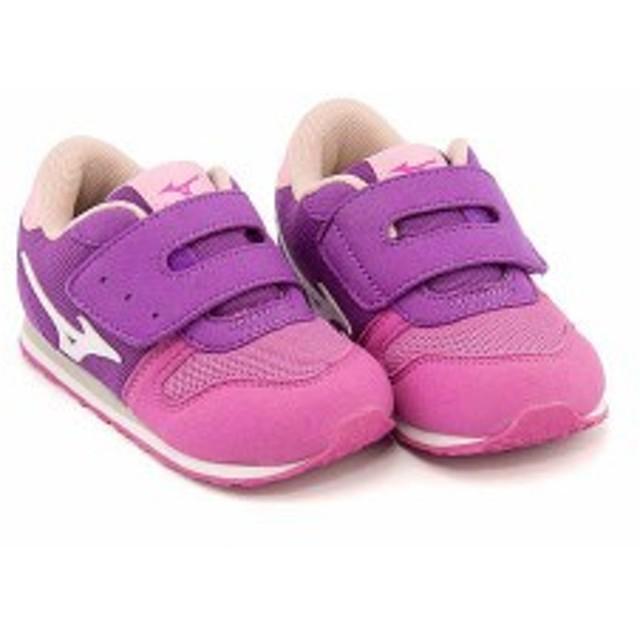 ミズノ スニーカー 女の子 男の子 キッズ ベビー 子供靴 タイニー ランナー 5 TINY RUNNER 5 mizuno K1GD1732 ダブルグレープ