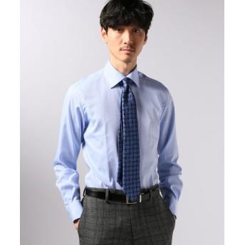 エディフィス セミワイド ドビーストライプシャツ メンズ ブルーA 39 【EDIFICE】