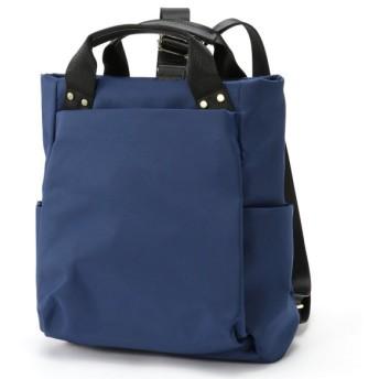 バッグ カバン 鞄 レディース リュック 通勤にも♪ナイロン2WAYリュックサック カラー 「ネイビー」