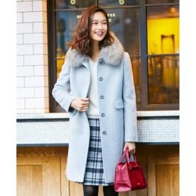 【エニィスィス/any SiS】 カシウールモッサ ステンカラー コート