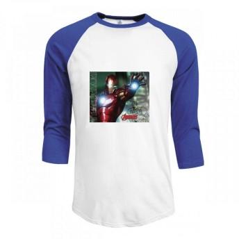 トップス アベンジャーズインヴィンシブルアイアンマン Men Raglan Sleeve T-Shirt メンズ Tシャツ