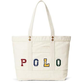 【SALE(三越)】<POLO RALPH LAUREN(ウィメンズ)/ポロラルフローレン> Polo パッチワーク キャンバス トートバッグ アイボリー【三越・伊勢丹/公式】