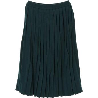 【6,000円(税込)以上のお買物で全国送料無料。】・ニットプリーツスカート