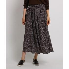 INDIVI(インディヴィ) 【WEB限定・マシンウォッシュ】レオパード風ロングスカート