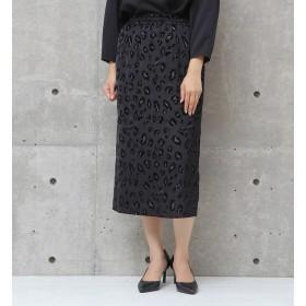 【リエス/Liesse】 レオパードフロッキースカート