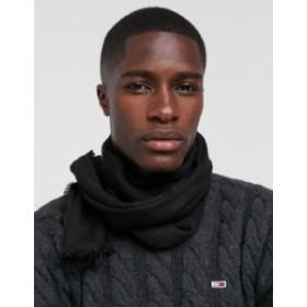 エイソス メンズ マフラー・ストール・スカーフ アクセサリー ASOS DESIGN lightweight scarf in BCI cotton Black