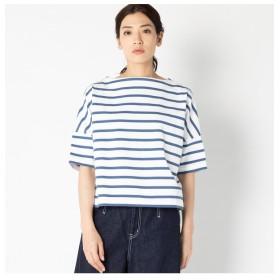 【エリオポール/HELIOPOLE】 Traditional Weatherwear 【別注】 ビッグマリン ボートネックシャツ ショートスリーブ