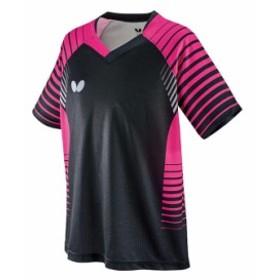 卓球アパレル NEOLD SHIRT(ネオルドシャツ) 男女兼用/ジュニア対応ブラックxピンク150 卓球 メンズ レディース【送料無料】