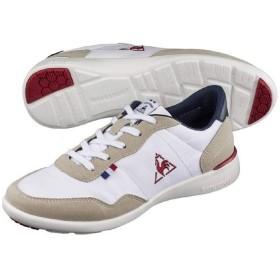レディースシューズ スニーカー ルコック lecoqsportif セギュール 3 ワイド ローカット 定番 女性用 スポーティ カジュアル 薄底 軽量 婦人靴/QL3NJC05 (24.0cm, (WN)ホワイト/ネイビー/レッド)