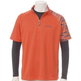 メンズ スポルディング長袖Tシャツ付半袖ジッアップTシャツ